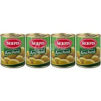 Serpis Aceitunas rellenas de anchoa Pack 3+1x150 g