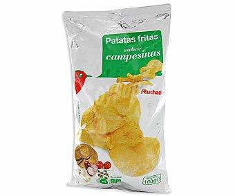 Auchan Patatas fritas sabor campesinas, 160 gramos