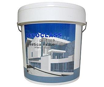 DECOCLASS Pintura plástica mate para Interior y Exterior, Color Blanco 12 Litros