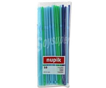 NUPIK Canutillos flexibles verdes y azules 50 Unidades
