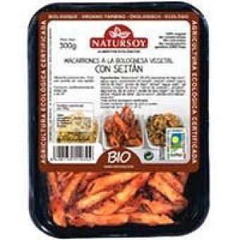 Natursoy Macarrones a la boloñesa vegetal Bandeja 300 g