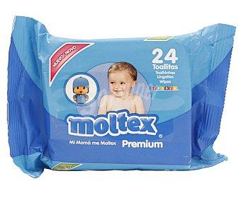 Moltex Toallitas húmedas para bebé con cierre adhesivo Premium 24 uds