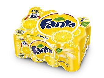 Fanta Refresco limon Pack 12 latas 33 cl