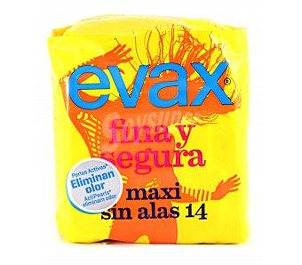 Evax Compresas finas y seguras - Maxi 14 unidades