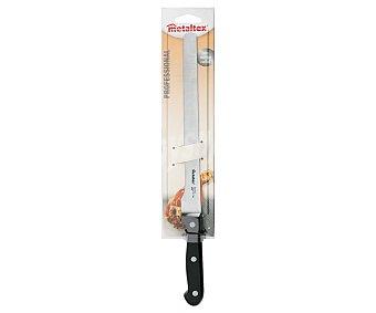 METALTEX Cuchillo especial jamonero con hoja de acero inoxidable de 36 centímetros forjada en una única pieza, modelo Profesional 1 Unidad