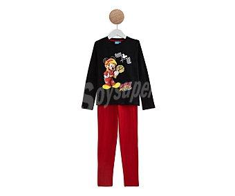 Disney Pijama de algodón para niño Minnie mouse, talla 8.