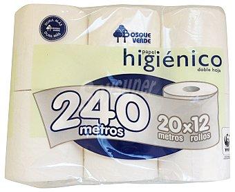 Bosque Verde Papel higiénico blanco Paquete de 12 unidades