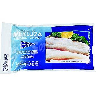 HIPERCOR filetes de merluza sin piel bolsa 400 g neto escurrido