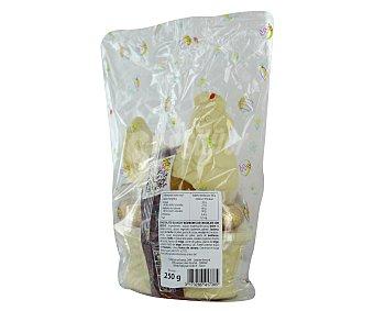 Productos Económicos Alcampo Gallina Chocolate Blanco + 9 huevos Praliné 250 gramos