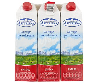 Central Lechera Asturiana Leche Entera Pack 6x1 litro