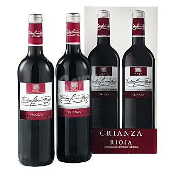 "Faustino Rivero Estuche de vino D.O. Ca. ""rioja"" tinto crianza Pack 2x75 cl"
