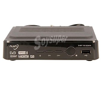 Aura gemini Sintonizador TDT de sobremesa USB grabador, hdmi, Euroconector