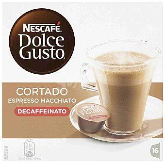 Dolce Gusto Nescafé Cafe cortado descafeinado 16 cápsulas
