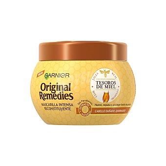 Original Remedies Garnier Mascarilla intensa y reconstituyente con jalea real, miel y extracto de propóleo para cabello dañado y quebradizo Tarro 300 ml