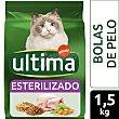 Alimento para gatos esterilizados anti bolas de pelo con pavo 1.5 kg Ultima Affinity