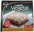 Lasaña vegetal congelada Pack 2 unidades (560 g en total) Preli