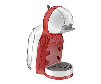 Dolce Gusto Nescafé Cafetera de cápsulas mini ME delonghi EDG305, blanca/roja, automática, presión 15 bares, depósito de 0.8 l