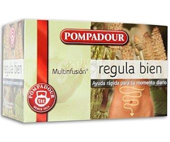 POMPADOUR Multi Infusión regula bien Caja 20 unidades (30 gramos)