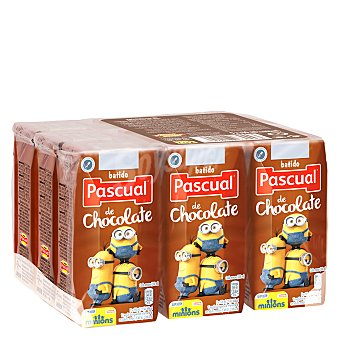 Pascual Batido sabor a chocolate Pack de 9x200 ml