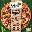 Pizza con hortalizas, tiras a base de proteina de soja y mozzarella Protein Lovers 435 g Gourmet Garden