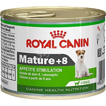 ROYAL CANIN MATURE +8 Alimento para perros mayores 8 años hasta 10 kg de peso para la estimulación del apetito lata 195 g 10 kg