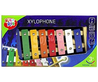 Rik&Rok Auchan Divertido y Colorido Xilófono de Metal 1 Unidad