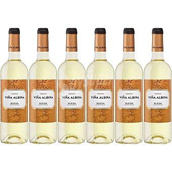 Viña Albina Vino blanco verdejo DO Rueda caja 6 botellas 75 cl
