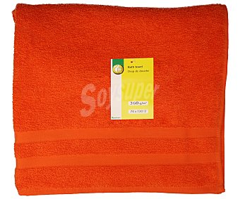 Productos Económicos Alcampo Toalla de ducha color naranja 100% algodón, densidad de 360 gramos/m², 70x130 centímetros 1 unidad