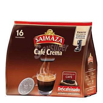 Saimaza Café descafeinado crema en monodosis 16 g