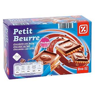 DIA Galleta petit beurre chocolate con leche Caja 250 gr