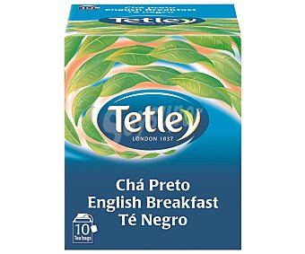 Tetley Té negro English Breakfast  Estuche 10 bolsitas (15 g)