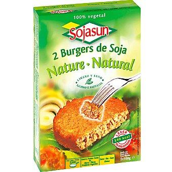 Sojasun Hamburguesa de soja natural 100% vegetal envase 200 g 2 unidades