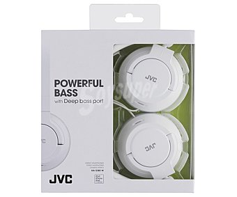 JVC HA-S180-W-E Auricular cerrados tipo casco con cable, color blanco