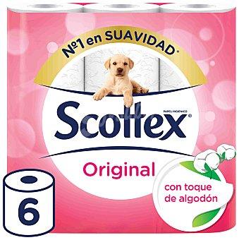 Scottex Papel higiénico original 6 rollos