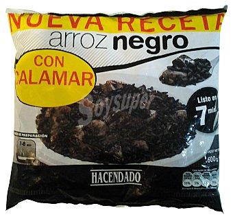HACENDADO ARROZ NEGRO CON CALAMAR CONGELADO PAQUETE 600 g