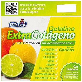YELLI FRUT EXTRACOLÁGENO Gelatina sabor cítricos sin azúcar Pack 4 unidades 100 g
