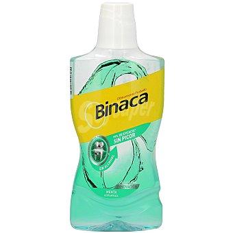 Binaca Enjuague bucal menta sin alcohol Botella 500 ml