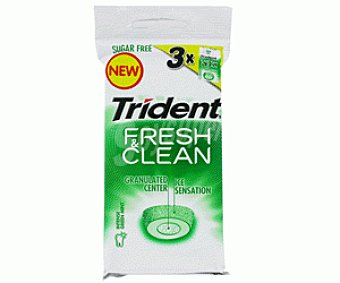 Trident Chicles Fresh-Clean Eucalyptus 3x20g