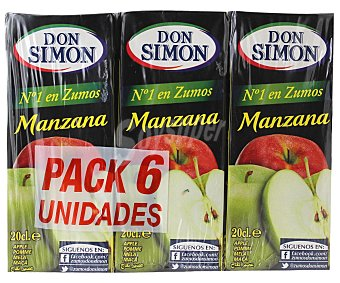 Don Simón Brick zumo de manzana 6 uds x 20 cl