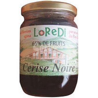 LOREDI Mermelada de cereza negra 65% de fruta Tarro 200 g