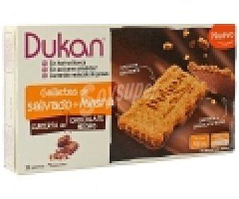DUKAN Galletas de salvado de avena cubierta de chocolate negro 200 gramos