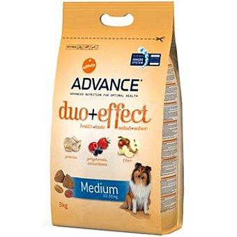 Advance Affinity Alimento de alta gama para perro adulto de raza medium con frutas y pollo con arroz Duo+effect Bolsa 3 kg