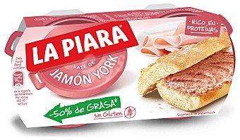 La Piara Paté de jamón york Pack 2x84 g