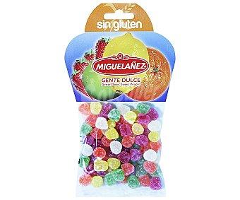 Miguelañez Gominolas blandos en forma de lagrimas frutales sin gluten bolsa 150 g