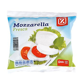 DIA Queso mozzarella fresca Bolsa 125 gr