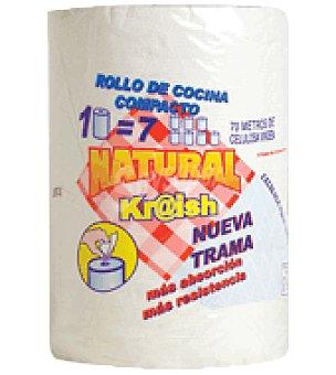 Natura Papel cocina compacto natural 1=7 doble + Natura 1 rollo.