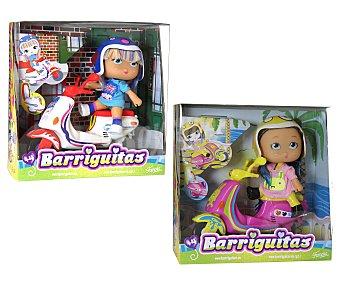 Barriguitas Barriguitas con scooties de colores, mini muñeca con casco y Scooter de colores 1 unidad