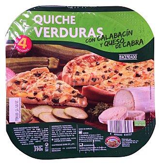 Hacendado Quiche fresca vegetal 390 g