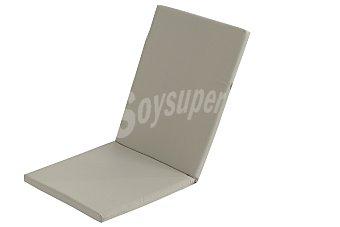 COMATEX Cojín y respaldo para silla modelo Grey Line de color beige, de 95x44x3 centímetros, lavable y de gran resistencia al exterior 1 unidad