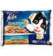 Fantastic alimento para gatos en gelatina selección de pescados 4 x 100 gr Purina Felix